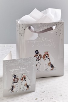 Wedding Card, Bag And Tissue Bundle