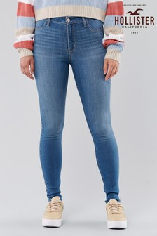 Hollister Mid Wash High Rise Jeans