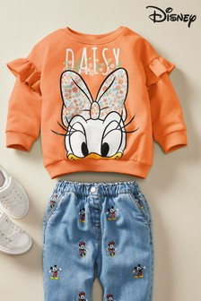 Rust Daisy Duck™ Licence Sweatshirt (3mths-7yrs)