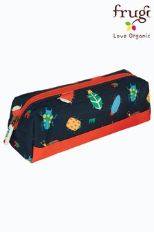 Frugi Recycled Polyester Large Pencil Case - Bugs