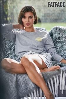 FatFace Grey Jennifer Hello Sunshine Crew Sweater