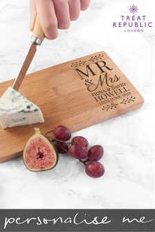 Personalised Mr & Mrs Serving Board by Treat Republic
