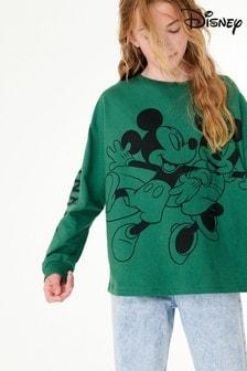 Green Disney Long Sleeve Top (3-16yrs)