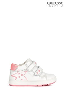 Geox Baby Girl's Biglia White/Fuchsia Shoes