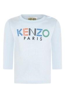 Boys Blue Jersey Long Sleeve T-Shirt