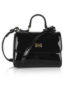 Girls Black Patent Leather Bag