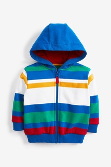 Multicoloured Stripe Zip Through Top (3mths-7yrs)