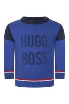 Baby Boys Cotton Logo Print Sweater