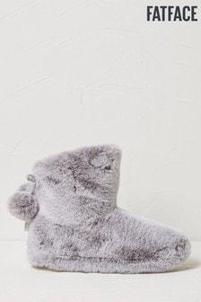 FatFace Grey Freya Slipper Boots