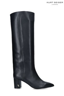 Kurt Geiger London Black Burlington Stov Knee Boots