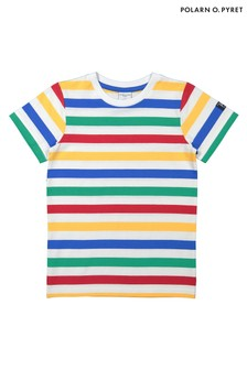 Polarn O. Pyret Blue GOTS Organic Striped T-Shirt