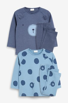 Blue 4 Pack Character T-Shirt And Legging Set With Stretch (0mths-2yrs)