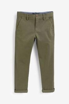 Khaki Slim Fit Stretch Chino Trousers (3-16yrs)