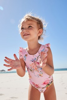 Pink Floral Swimsuit (3mths-12yrs)