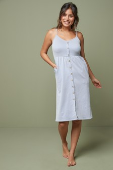 Blue/White Stripe Strappy Dress