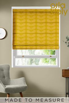 Jacquard Stem Dandelion Yellow Made To Measure Roman Blind by Orla Kiely