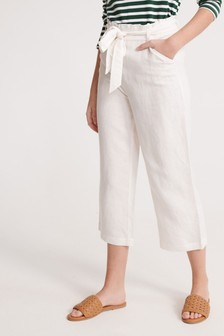 Superdry White Linen Trousers