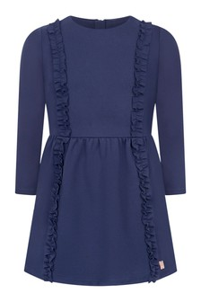 Girls Navy Milano Dress
