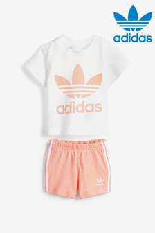 adidas Originals Infant White Short And T-Shirt Set
