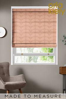 Jacquard Stem Tea Rose Pink Made To Measure Roman Blind by Orla Kiely