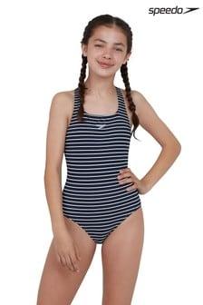 Speedo Stripe Medalist Swimsuit