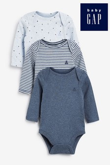 Gap Long Sleeve Bodysuits 3 Pack