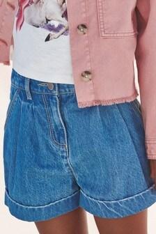 Mid Blue Denim Shorts (3-16yrs)