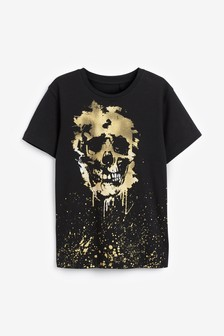 Black Gold Skull T-Shirt (3-16yrs)