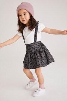 Denim Grey 2 Piece Animal Skirt And T-Shirt Set (3mths-7yrs)