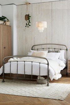 Pewter Plated Shoreditch® Footend Bed