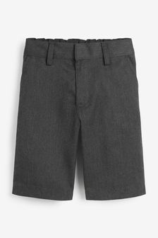 Grey Flat Front Shorts (3-12yrs)