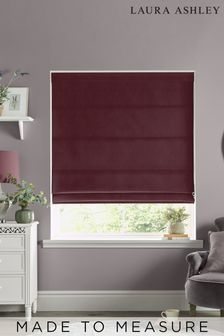 Laura Ashley Red Swanson Dark Cranberry Made to Measure Roman Blind