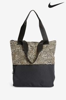 Nike Black Leopard Print Radiate Tote Bag