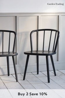 Pair of Uley Chairs in Carbon By Garden Trading