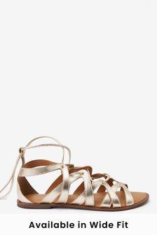 Gold Forever Comfort® Gladiator Sandals