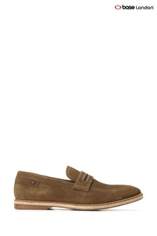 Base London® Green Kinsey Suede Slip-On Loafers