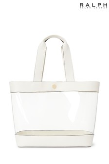 Ralph Lauren White Perspex Leather 2 in 1 Bag