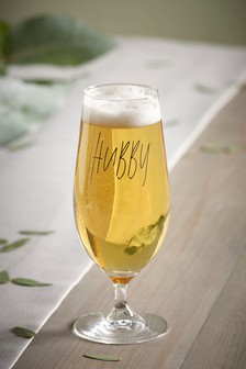 Hubby Beer Glass