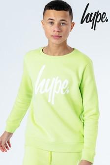 Hype. Neon Script Kids Crew Top
