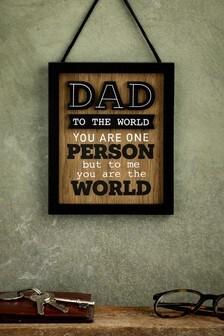 Dad Hanging Plaque