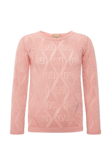 GUCCI Kids Girls Pink Cotton Jumper