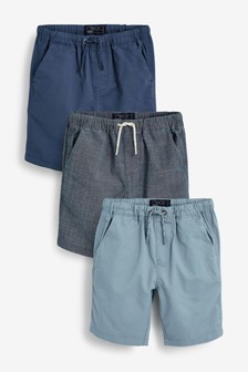 Blue 3 Pack Pull-On Shorts (3-16yrs)