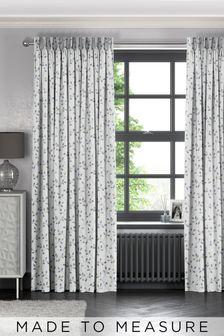 Neisha Sky Blue Made To Measure Curtains