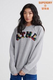Superdry Contemporary Varsity Metallic Crew Sweatshirt