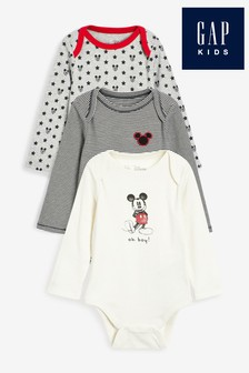 Gap Disney™ Mickey Mouse™ Bodysuits Three Pack
