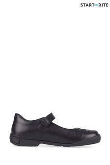 Start-Rite Hopscotch Black Leather Shoes