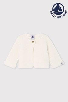 Petit Bateau Ivory Knitted Cardigan