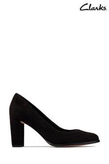 Clarks Black Suede Kaylin Cara 2 Shoes