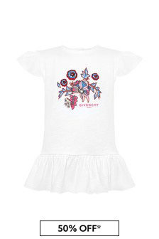 Baby Girls White Cotton T-Shirt