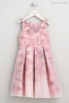 Angel & Rocket Pink Floral Overlay Dress